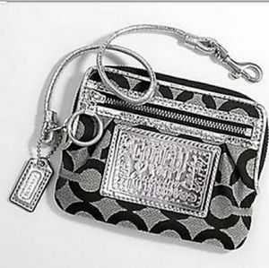 Like New☆COACH Poppy OP art Zippy Wallet Wristlet
